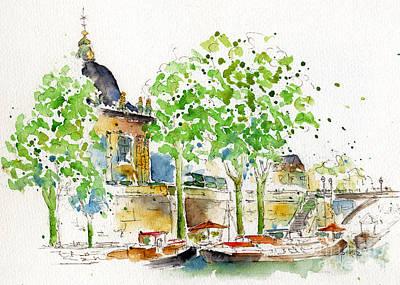 Vers Pont Des Artes Print by Pat Katz