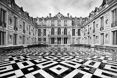 Black And White Paris Photograph - Versailles Architecture Paris by Pierre Leclerc Photography
