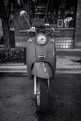 Black And White Photograph - Vespa by Sebastian Musial
