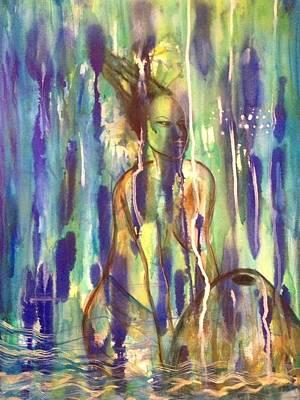 Yemaya Painting - Vessel by Anoa Kanu