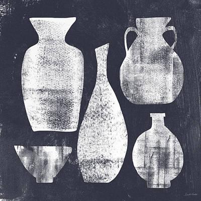 Ceramic Painting - Vessel Sampler- Art By Linda Woods by Linda Woods