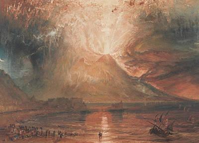 Vesuvius In Eruption Print by Joseph Mallord William Turner