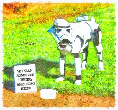 Battles Digital Art - Veteran Dogtrooper - Da by Leonardo Digenio