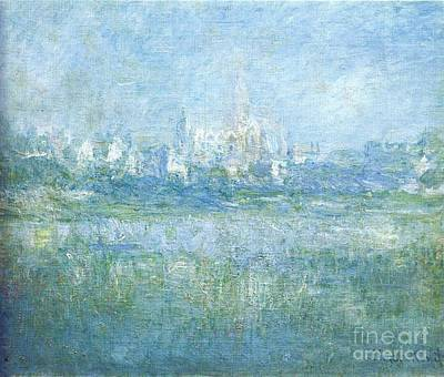 Vetheuil Mixed Media - Vetheuil In The Fog by Monet