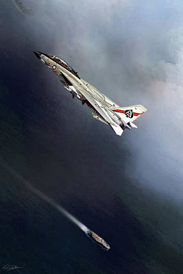 F-14 Digital Art - Vf-41 Black Aces by Peter Chilelli