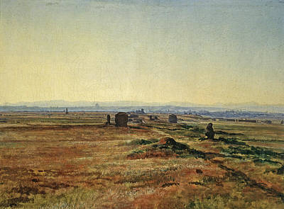 Painting - Via Appia At Sunset by Alexander Andreyevich Ivanov
