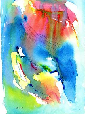 Vibrant Colorful Abstract Watercolor Painting Print by Carlin Blahnik