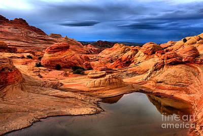 Vibrant Desert Landscape Print by Adam Jewell