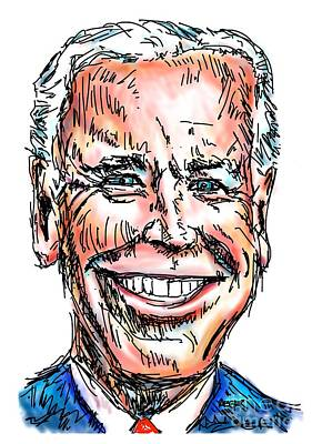 Joe Biden Drawing - Vice President Joe Biden by Robert Yaeger