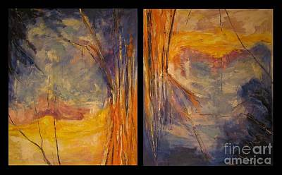 Dyptich Painting - Vice Versa Dyptich by Debora Cardaci