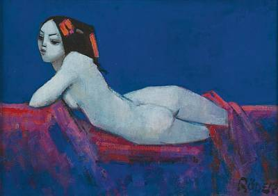Erotica Painting - Vicky by Endre Roder