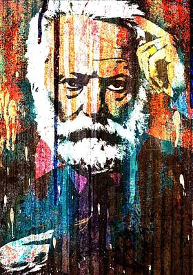 Statesmen Mixed Media - Victor Hugo Abstract by Otis Porritt