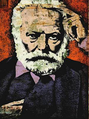 Statesmen Mixed Media - Victor Hugo by Otis Porritt