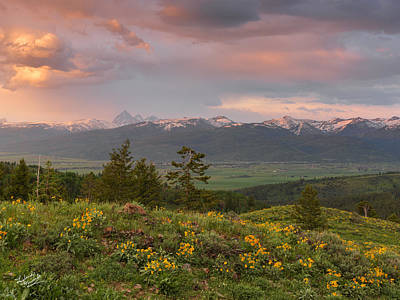 Spring Photograph - Victor Idaho Sunset by Leland D Howard