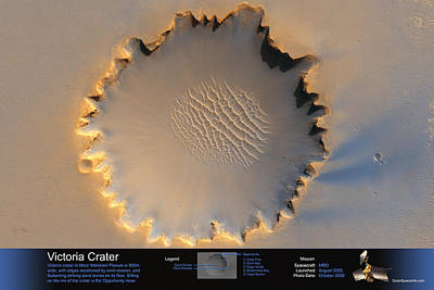 Victoria Crater Print by Shop OuterSpaceInfo
