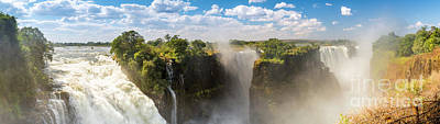 Waterfall Photograph - Victoria Falls Africa Panorama by Tim Hester
