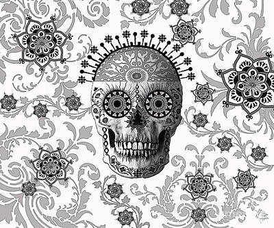 Ornate Mixed Media - Victorian Bones by Christopher Beikmann