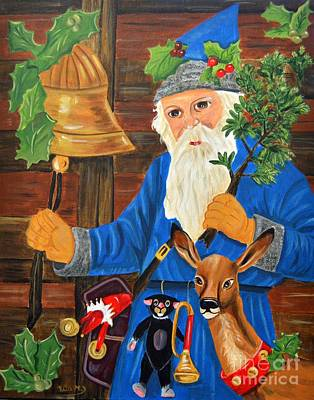 Holly Hocks Painting - Victorian Santa by Rita Drolet