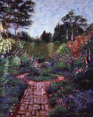 Garden Gates Painting - Victorian Secret Garden by David Lloyd Glover