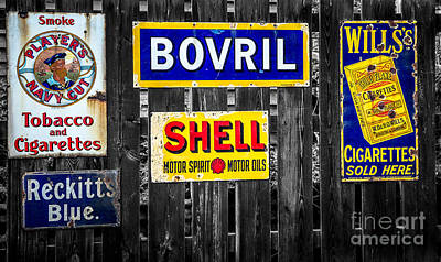 Victorian Signs Print by Adrian Evans