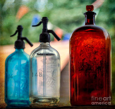Antique Bottles Photograph - Victorian Soda Syphon by Adrian Evans