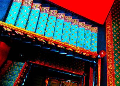 Eureka Springs Digital Art - Victorian Stairs by Susan Vineyard
