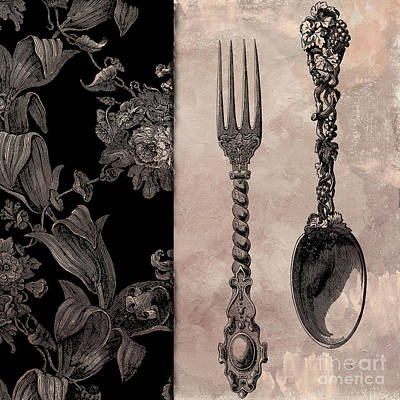 Victorian Table IIi Print by Mindy Sommers