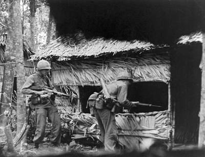 101st Airborne Division Photograph - Viet Cong Camp by Underwood Archives
