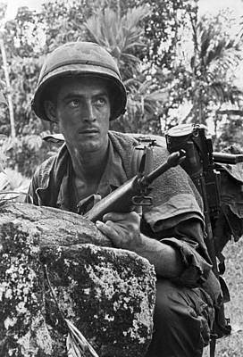 U.s Army Photograph - Vietnam Soldier by Underwood Archives
