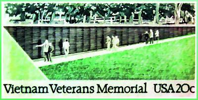 Vietnam Veterans Memorial Print by Lanjee Chee