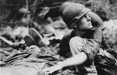 Tntar Photograph - Vietnam War. Army Medic Searches by Everett