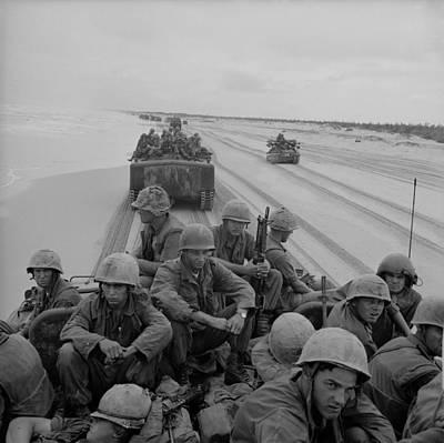 Tntar Photograph - Vietnam War. Us Marines Of The 3rd by Everett