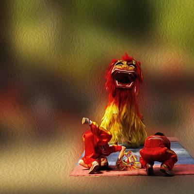 Vietnamese Lion Dance. Print by Nhi Ho Thi Xuan