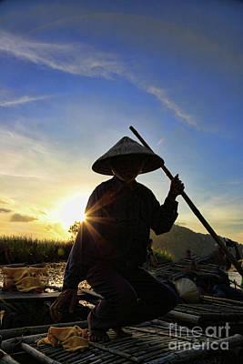 Binh Photograph - Vietnamese Taking A Break  by Chuck Kuhn