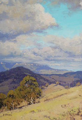 Tree Traditional Art Painting - View Across The Kanimbla Valley Australia by Graham Gercken