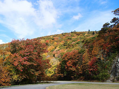 Becky Photograph - View Along The Blue Ridge Parkway In Fall by Becky Erickson