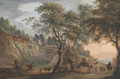 Kent Painting - View At Charlton, Kent by Paul Sandby