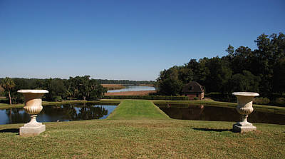 View Down To The Ashley River At Middleton Place Plantation Charleston Print by Susanne Van Hulst