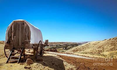 View From A Sheep Herder Wagon Print by Robert Bales