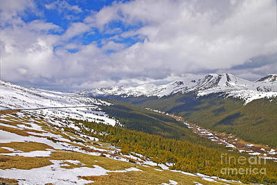 View From Medicine Bow Curve Print by Rich Walter