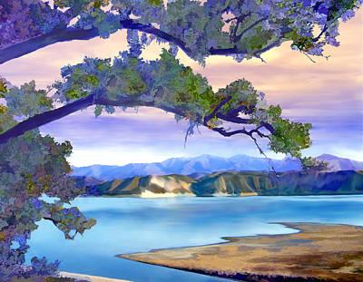 Lake Photograph - View From Mohawk  Lake Cachuma by Kurt Van Wagner