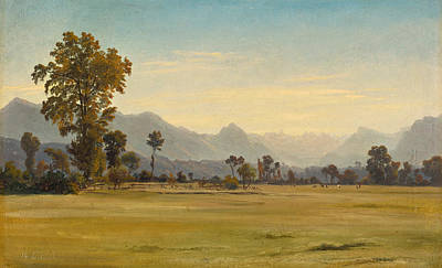 Robert Zuend Painting - View From Schoenbuehl Toward The Vitznauerstock by Robert Zuend