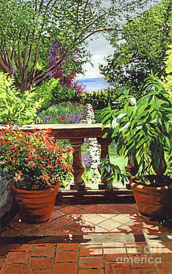 View From The Royal Garden Print by David Lloyd Glover