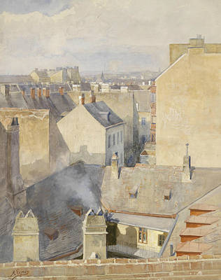 View From The Studio In The Klagbaumgasse In The 4th District Around 1890 Print by Marie Egner