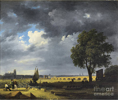 Raymond Painting - view of Bordeaux by Jacques Raymond