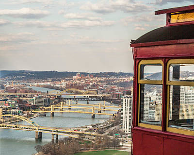 View Of Bridges From Incline Print by Eclectic Art Photos