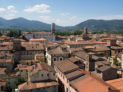 Lucca Photograph - View Of Buildings From Top Of Torre by Panoramic Images