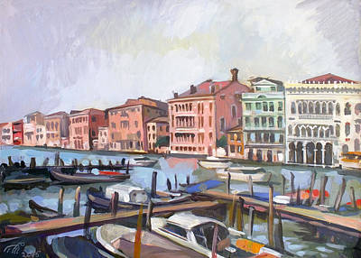 Venice Ca Painting - View Of Canal Grande by Filip Mihail