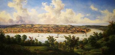 Cincinnati Ohio Painting - View Of Cincinnati by Mountain Dreams