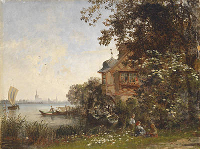 Painting - View Of Constance From Gottlieben At The Untersee by Karl Weysser